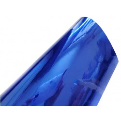 Vinyl chrome blue sticker for car