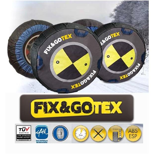 Cadenas de nieve textiles FIX&GO TEX - talla H