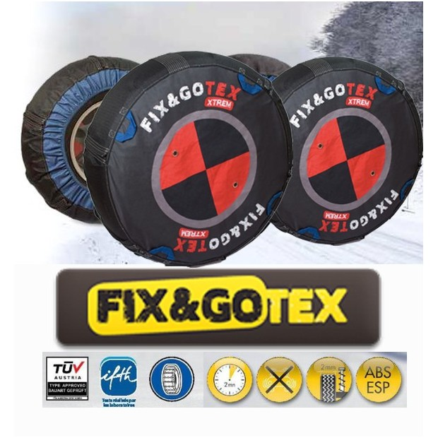 Catene da neve tessile FIX&GO TEX EXTREME - dimensioni M1
