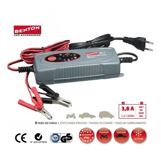 Cargador de batería portatil BENTON® BX-1 para coches