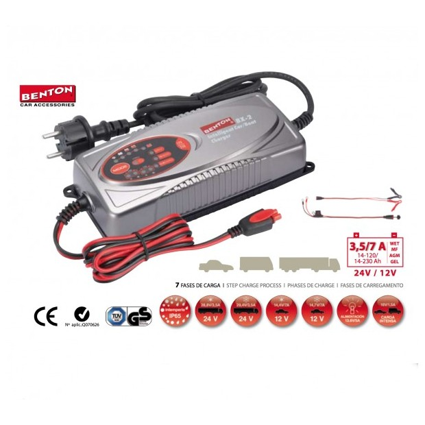 Carregador de bateria portátil BENTON® BX-2 para carros e caminhões