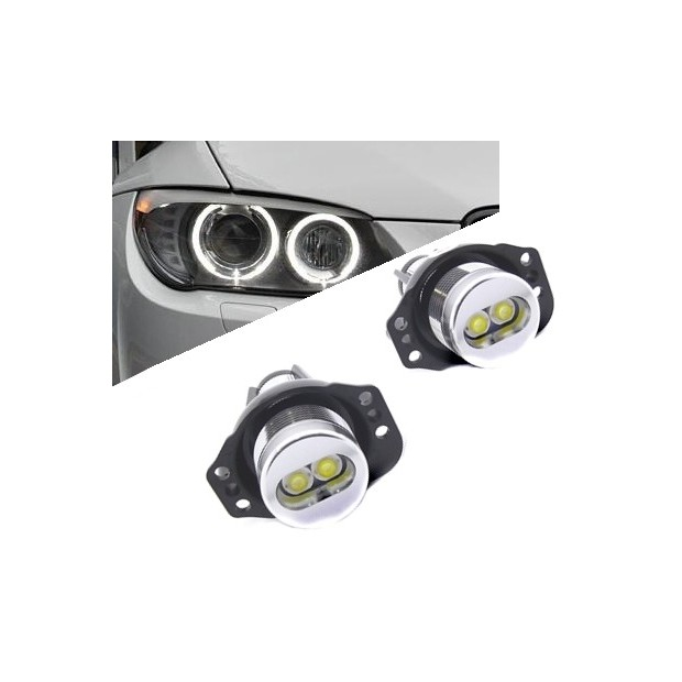 Kit occhi di angel a LED 6W per BMW E90-E91 2005/2008 - Tipo 3