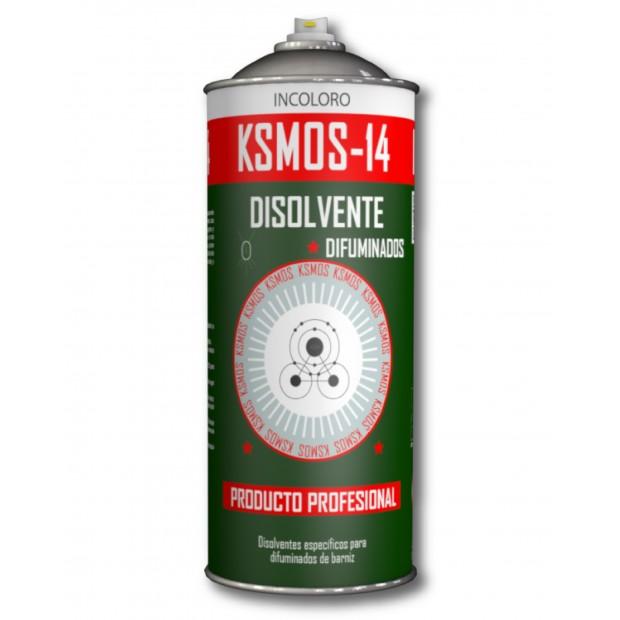 Spray disolvente difuminado para fusionar dos lacas distintas