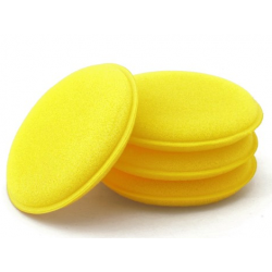 Foam yellow to apply cleaning products