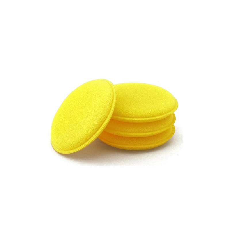 Mousse jaune pour appliquer des produits de nettoyage