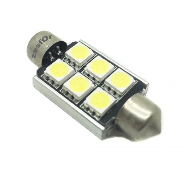 Bulbo claro do diodo EMISSOR de luz CANBUS c5w / festoon 36, 39, 41 milímetros TIPO 17