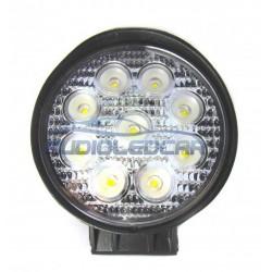 Foco LED 27W + iman para coche, camión, quad o moto