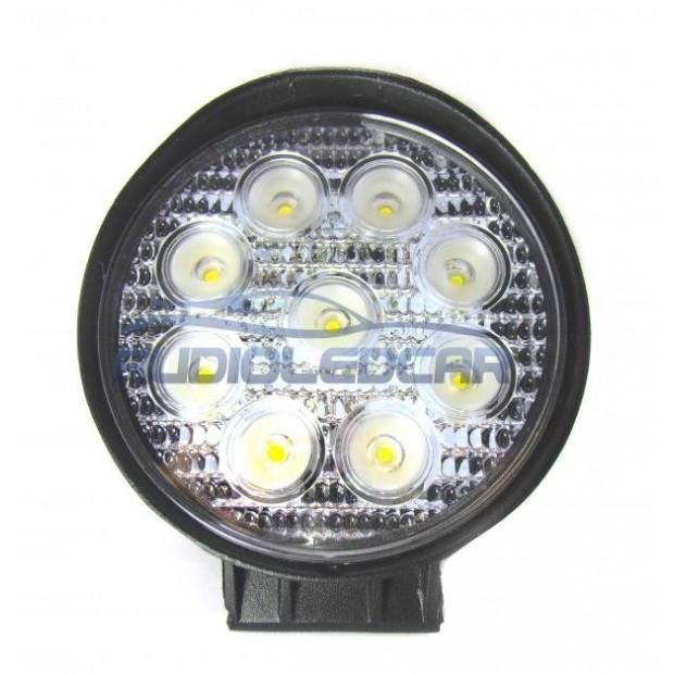 Refletor LED 27W + imã para carro, caminhão, quad ou moto