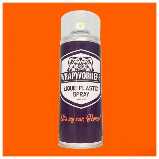 Pintura em Spray vinil líquido LARANJA FLUOR