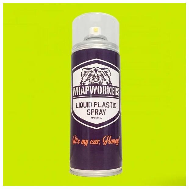 Spray paint vinyl YELLOW liquid FLUOR