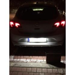 Plafones LED de matricula Opel Astra J (2009-2016)