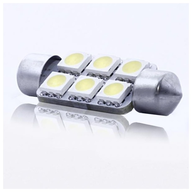 ZesfOr® Bombilla LED c5w 41mm - TIPO 52