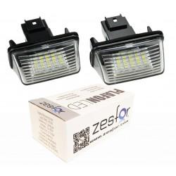 Luzes de matricula diodo EMISSOR de luz Citroen C3, 5 portas hatchback (02-09)