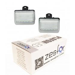 Luzes de matrícula diodo EMISSOR de luz para Mazda 6 2003-2008