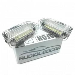 Plafones LED para puertas traseras Volkswagen Golf Passat Jetta Scirocco Sharan Tiguan Eos SuperB