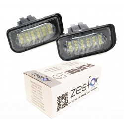 Luces matricula LED Mercedes SL R230 descapotable