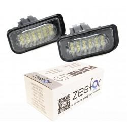 Luzes de matricula diodo EMISSOR de luz Mercedes SL R230 conversível