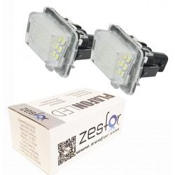 Luzes de matricula diodo EMISSOR de luz Mercedes Classe E W212 4 e 5 portas, quatro portas (com lâmpadas de led de série)