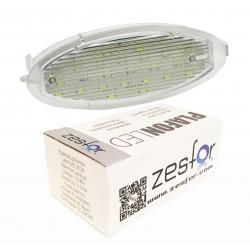 Luzes de matricula diodo EMISSOR de luz Opel Agila (00-08)