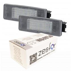 Luzes de matricula diodo EMISSOR de luz Peugeot 607, 4 portas