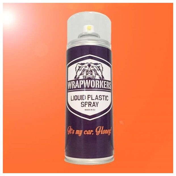 Spray paint vinyl liquid ORANGE GLOW