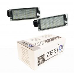 Luzes de matrícula diodo EMISSOR de luz para Renault Clio III (2005-2012)