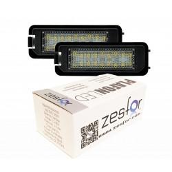 Luzes de matricula diodo EMISSOR de luz Skoda SuperB II, 4 portas (2008-presente)