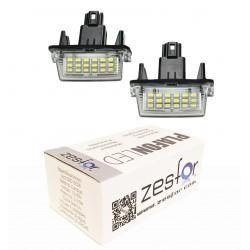 Luzes de matricula diodo EMISSOR de luz Toyota Yaris (2008-)