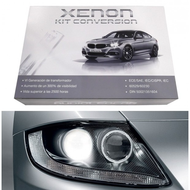 Kit xenon H7 6000k, 8000k ou 4300k - Tipo 1 PADRÃO 35W