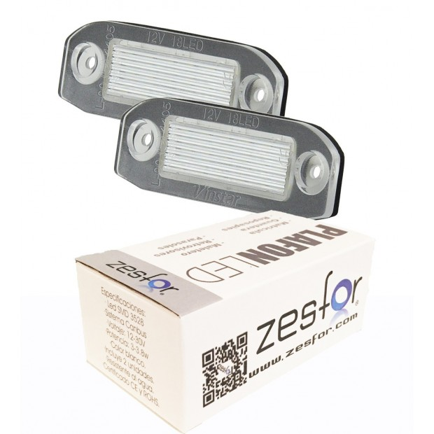 Luzes de matricula diodo EMISSOR de luz Volvo V70 II (08-)