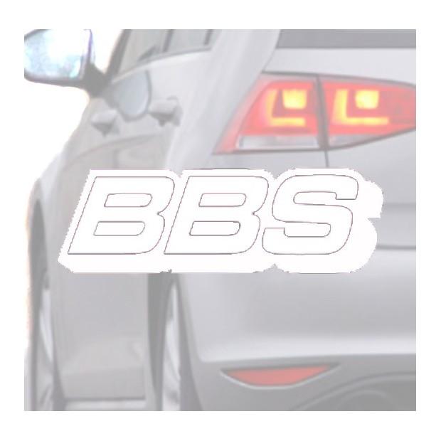 Autocollant pour voiture BBS blanc