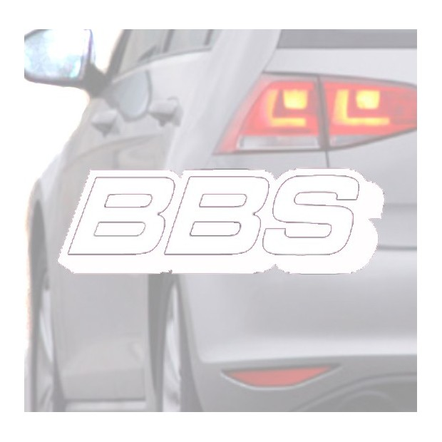 Sticker for car BBS white