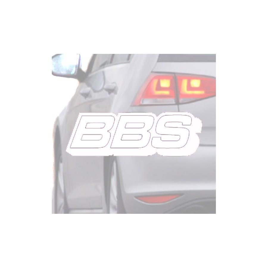 Sticker for car BBS white