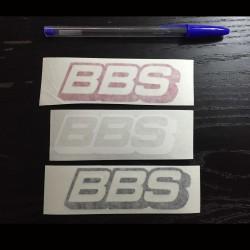 Adesivo per auto BBS bianco