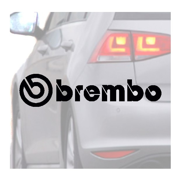 Pegatina para coche BREMBO negra