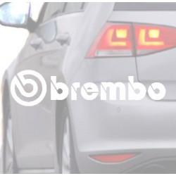 Pegatina para coche BREMBO blanca