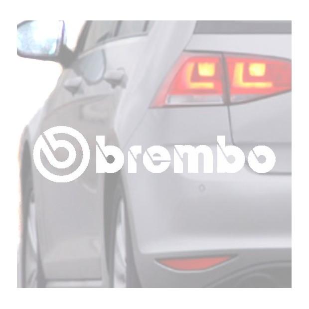 Aufkleber für auto BREMBO blanca