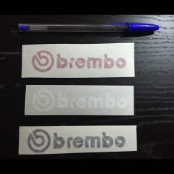 Sticker for car BREMBO white