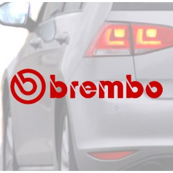 Aufkleber für auto BREMBO rot