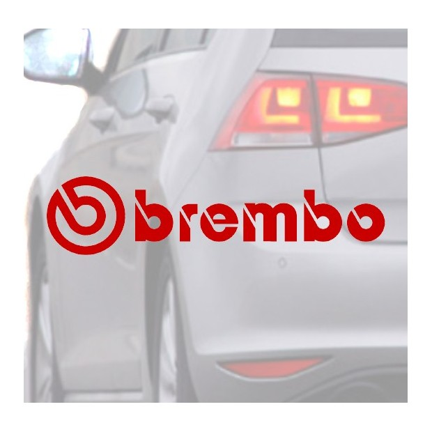 Sticker for car BREMBO red
