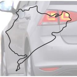 Aufkleber für auto Nurburing schwarz
