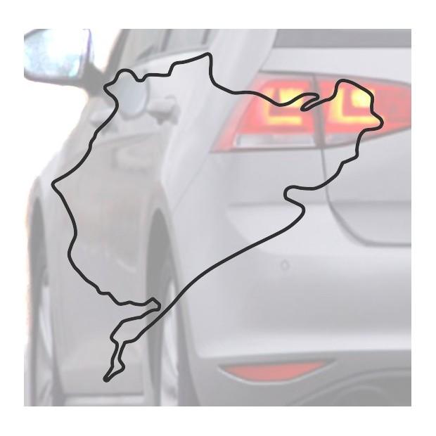 Autocollant pour voiture de Nurburing noir