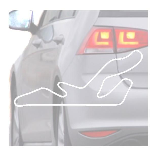 Adesivo per auto Automobile-bianco