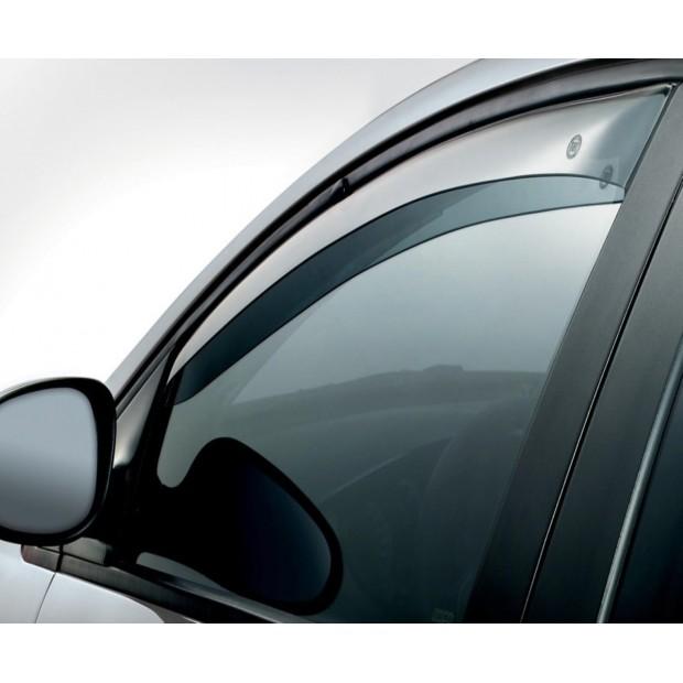 Set di 4 deflettori daria a canale compatibili con Opel Corsa D e Corsa E 5 porte HATCHBACK modelli dal 2006 al 2019 in vetro acrilico per finestrini laterali