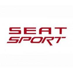 Pegatina para coche Seat Sport rojo