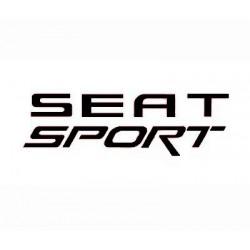 Pegatina para coche Seat Sport negra