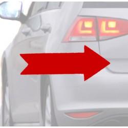 Autocollant pour voiture-Flèche rouge