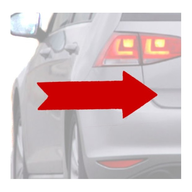 Aufkleber für das auto, der rote Pfeil