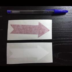 Sticker for car-red Arrow
