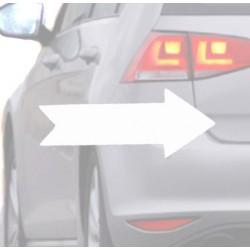 Autocollant pour voiture de Flèche blanche